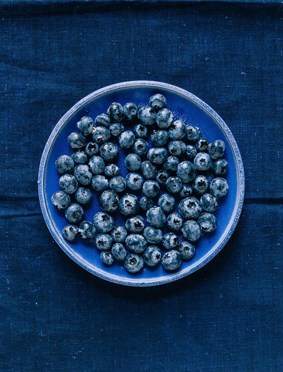 Nutrición deportiva, fruta, arándanos